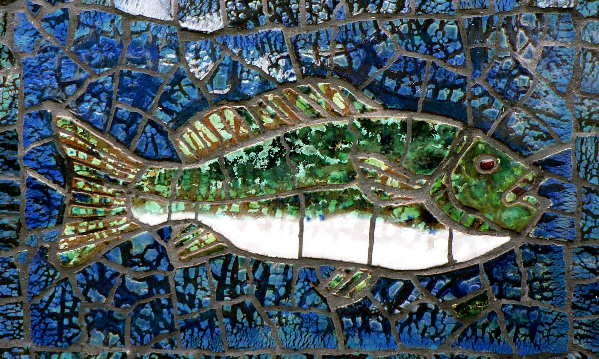 Ceramic fish mosaic